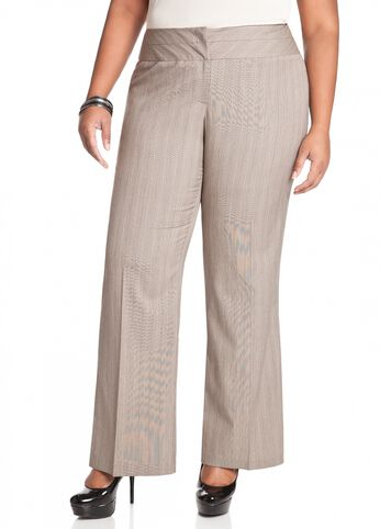 Pinstripe Tweed Pant