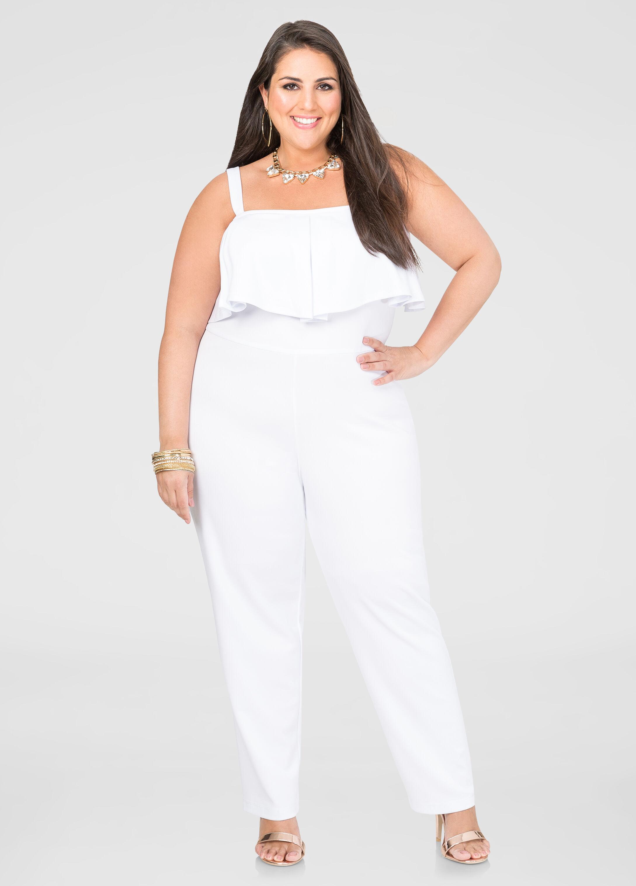 4c4b3ef442d Buy plus size jumpsuits for evening wear ashley stewart jpg 346x482 Plus  size white dressy jumpsuit