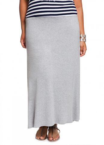 Long Jersey Knit Skirt