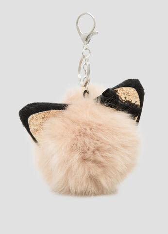 Kitten Fur Pom Handbag Charm