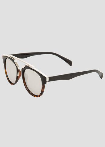 Top Bar Round Frame Sunglasses