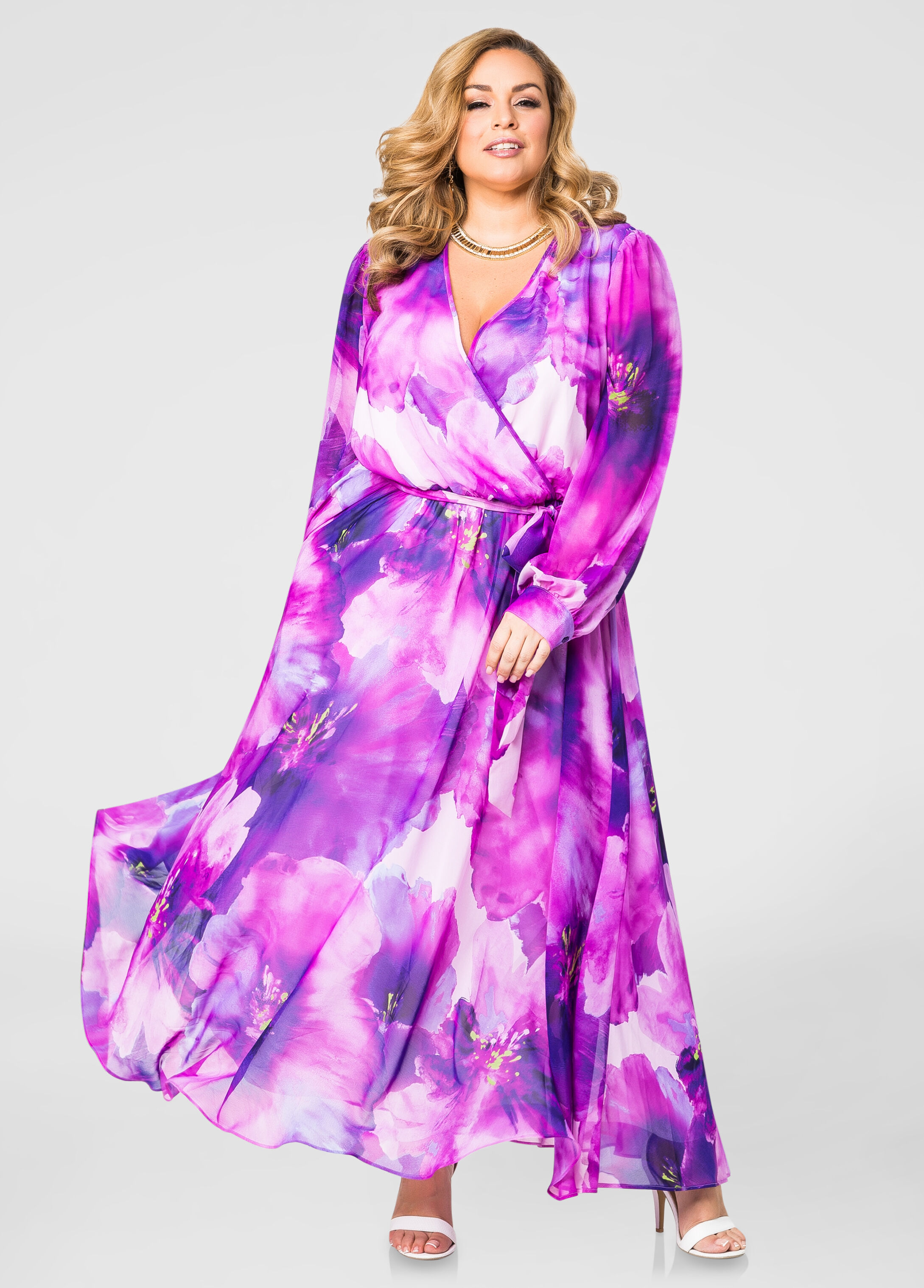 Surplice maxi dresses
