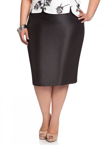 Shantung Pencil Skirt