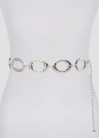 Hammered Metal Ring Belt