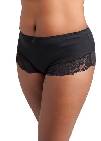 Cotton Lace Trim Brief