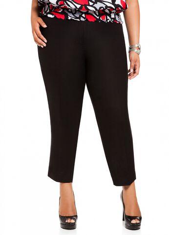 Linen Skinny Crop Pant