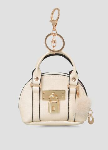 Ashley Stewart Handbag Charm in White