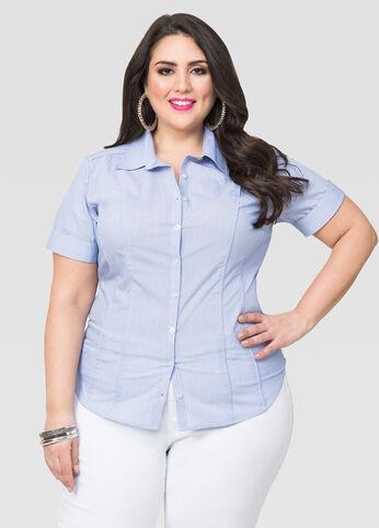 Short Sleeve Button Front Shirt