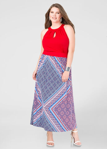 Bandana Halter Maxi Dress