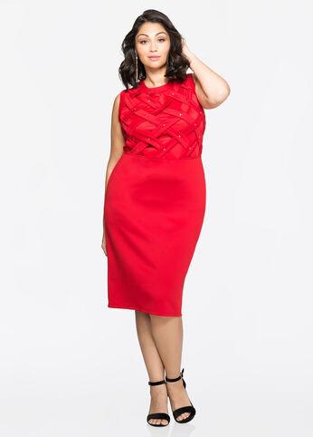 Flat Stud Lattice Dress