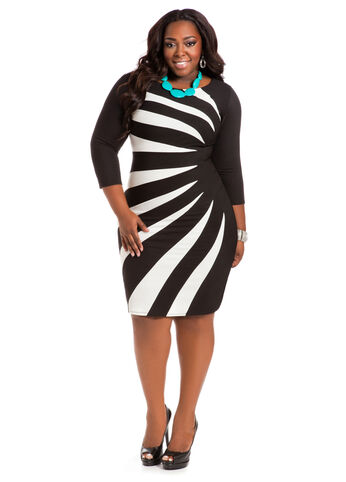 Web Exclusive: Color Block Sunburst Dress