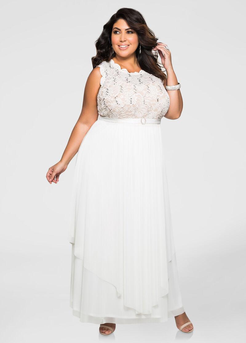 Wedding Plus Size Chiffon Dresses lace sequin chiffon gown plus size evening dress ashley stewart gown