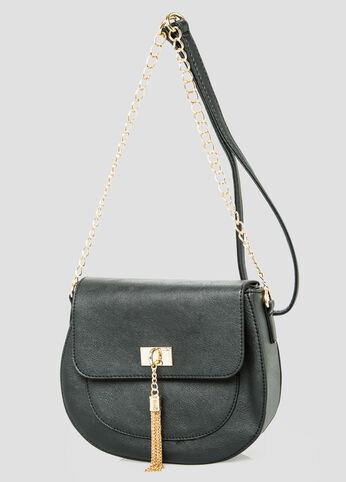 Chain Link Fringe Saddle Bag