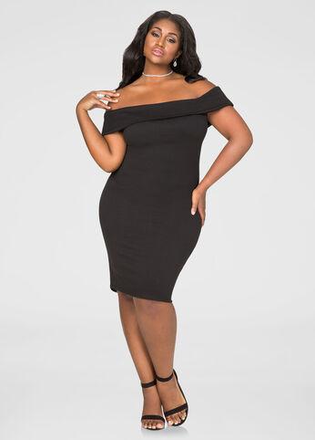 Off-Shoulder Bodycon Dress