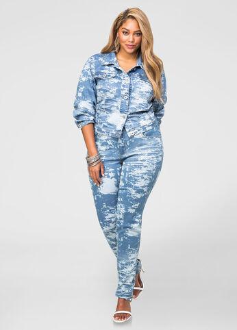 splash wash jean set - plus size jeans
