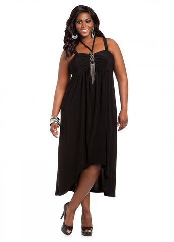 Web Exclusive: Embellished Hi-low Dress