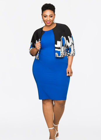 2-Piece Sheath Dress With Jacket