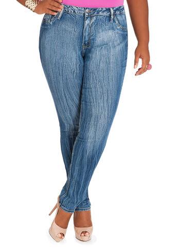 Extreme Wrinkle Denim Pants