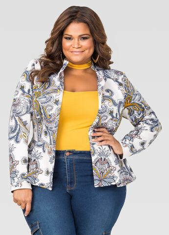 Paisley Peplum Jacket