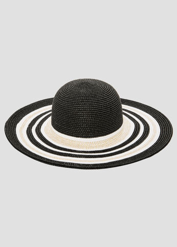 Stripe Brim Floppy Hat