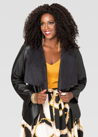 Cascade Faux Leather Jacket