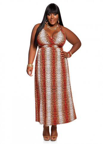 Web Exclusive: Leopard Print Maxi Dress