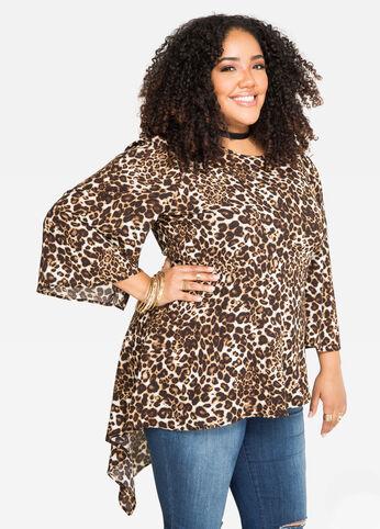Asymmetrical Leopard Tunic