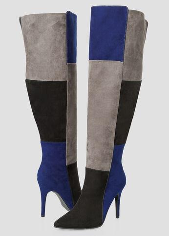Colorblock Over The Knee Boot - Wide Calf Wide Width