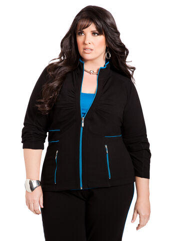 Ruched Active Jacket