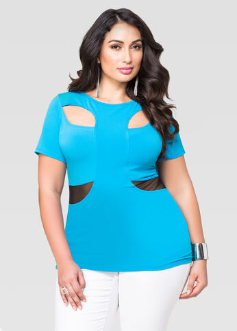 Mesh Cut-Out Top
