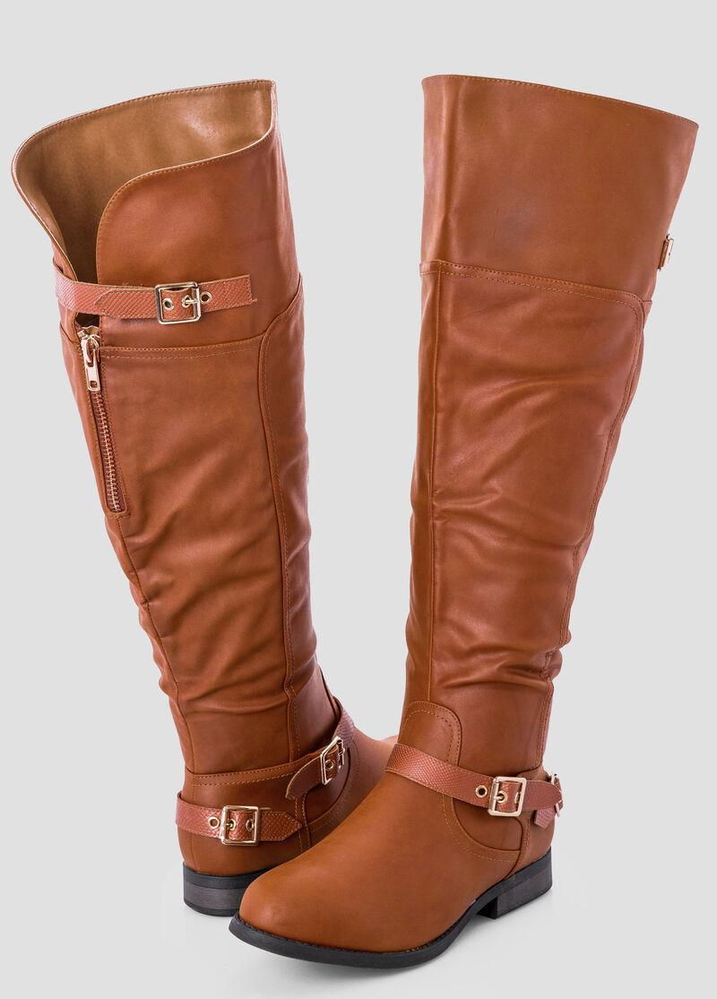 Wide Width Wide Calf Over The Knee Tall Boot-Wide Width Women's ...