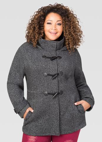 Hooded Fleece Toggle Jacket