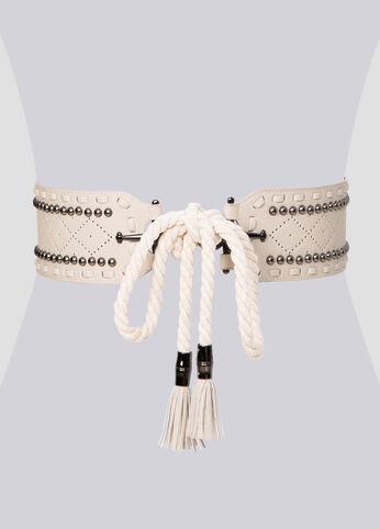 Studded Rope Tie Belt