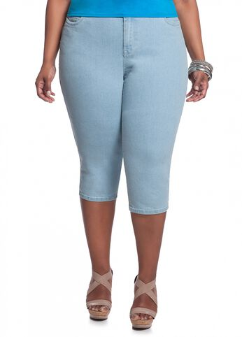 Light Wash Denim Capri