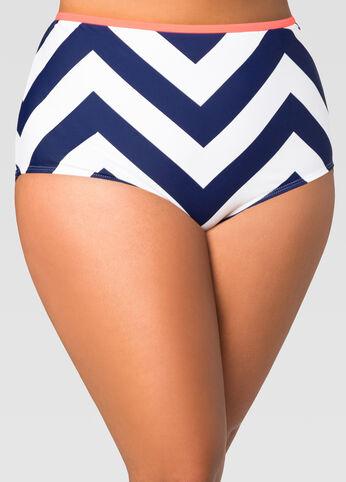 Chevron High Waist Bikini Bottom