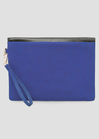 Mixed Media Oversized Clutch