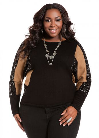 Studded Dolman Sleeve Top