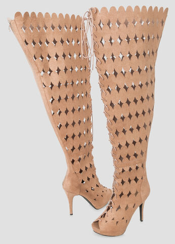 Circle Over The Knee Boot - Wide Calf Wide Width