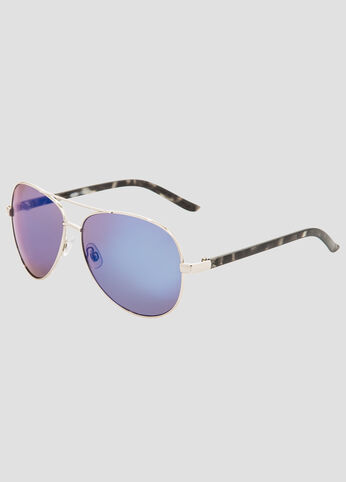 Mirror Lens Aviator Sunglasses