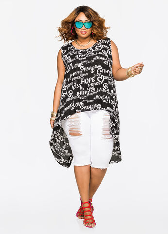 Plus Size Outfits - Peace and love