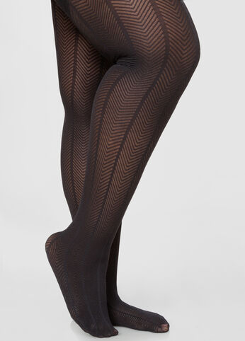 Herringbone Textured Tights