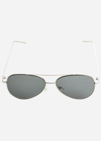 Silver Perfect Aviator Sunglasses