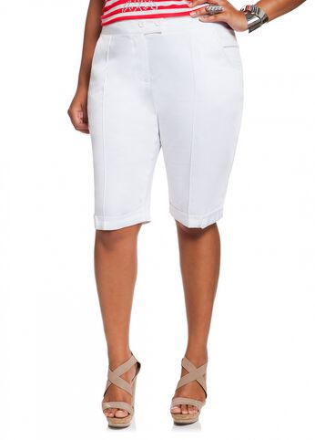 Sateen Bermuda Short