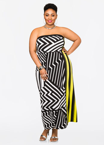 Zig Zags and Stripes Tube Dress