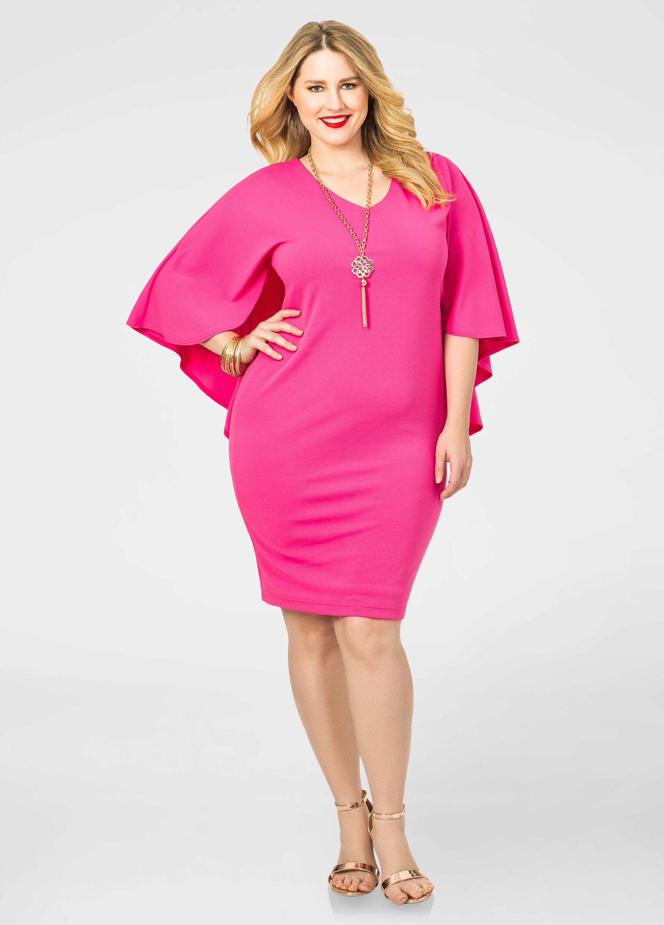 Textured Knit Cape Dress Plus Size Dresses Ashley Stewart