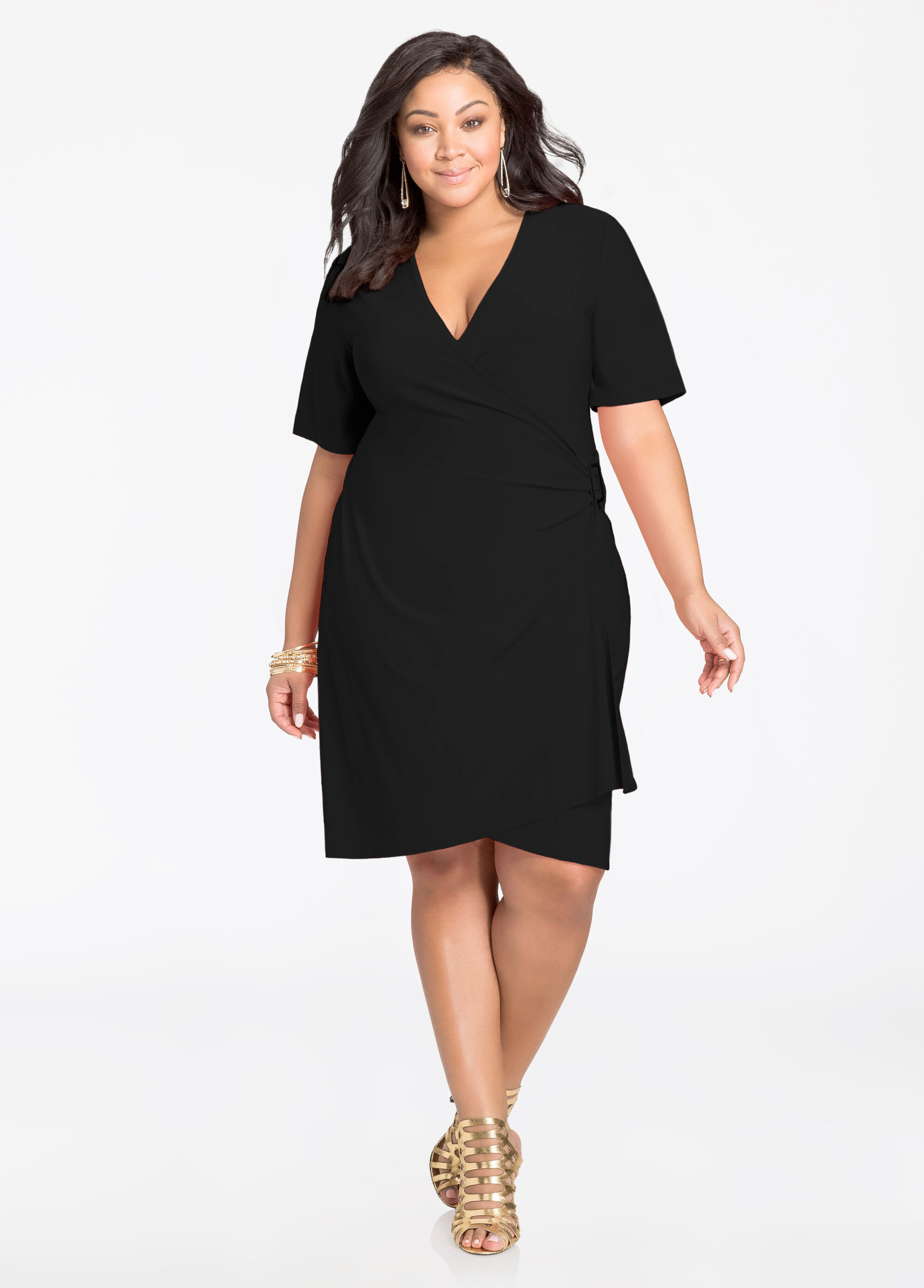 black plus size dress with sleeves choice image - dresses design ideas