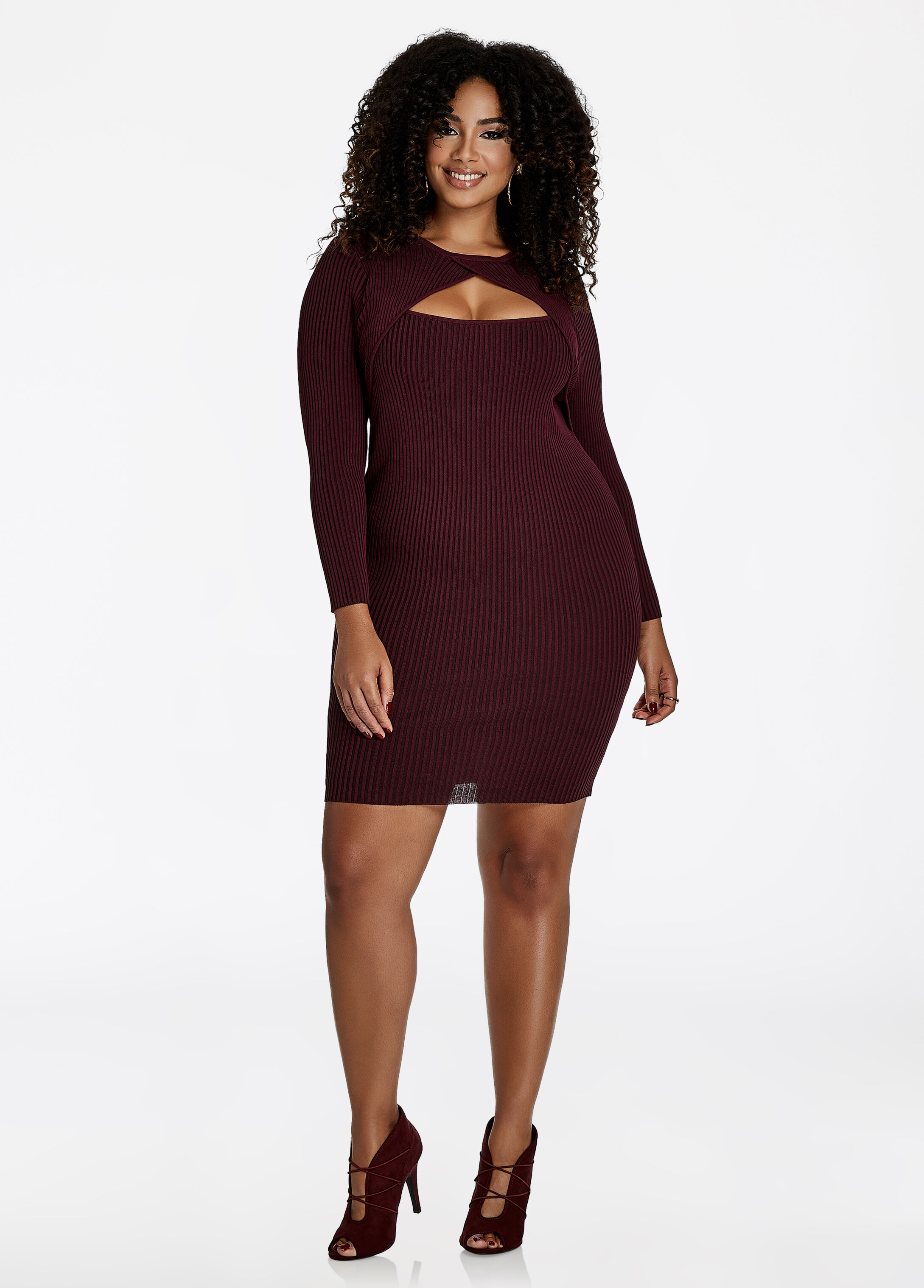 Faux Shrug Sweater Dress