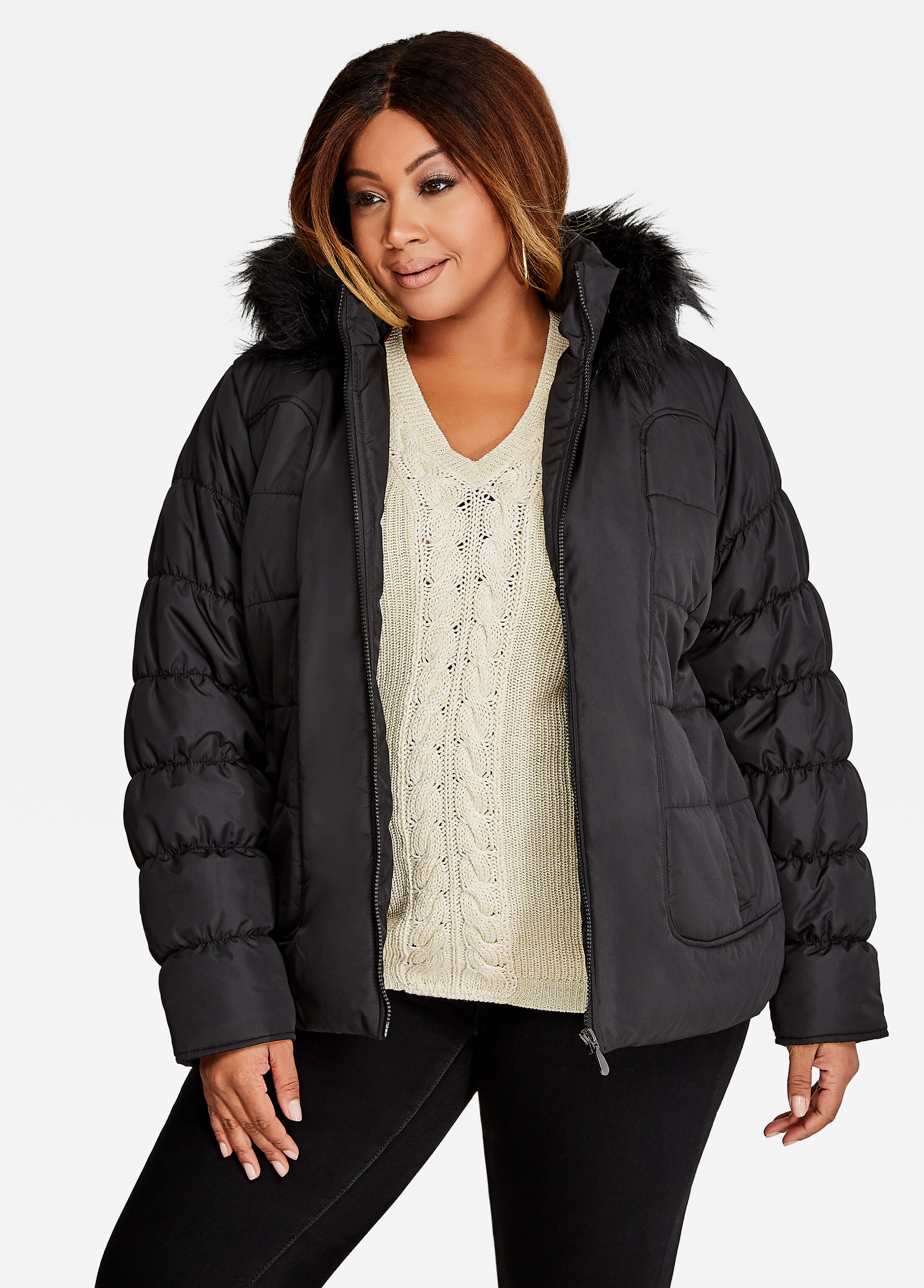 Short Quilted Puffer Coat