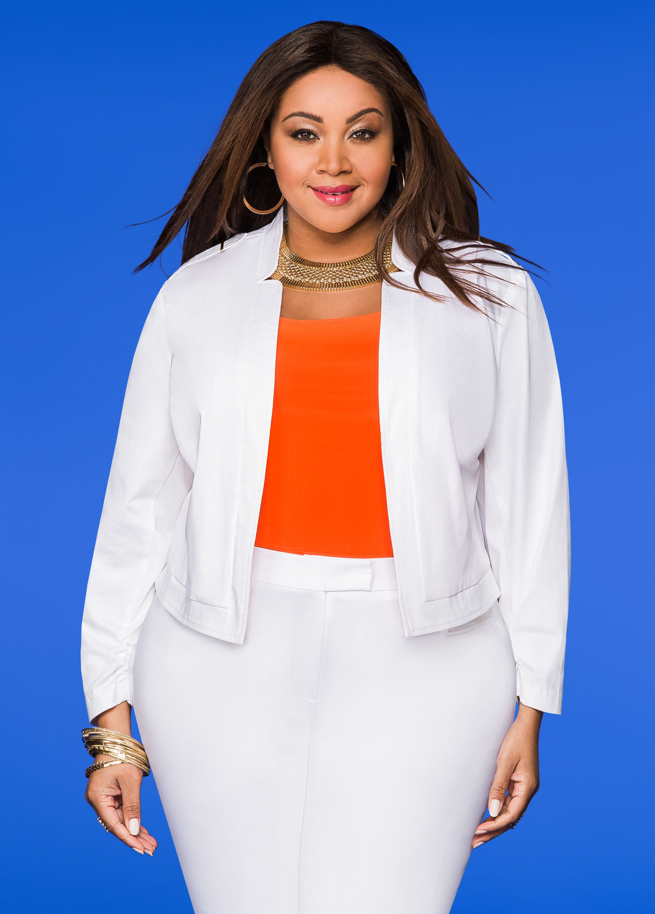 Sateen Open Front Jacket White - Clearance