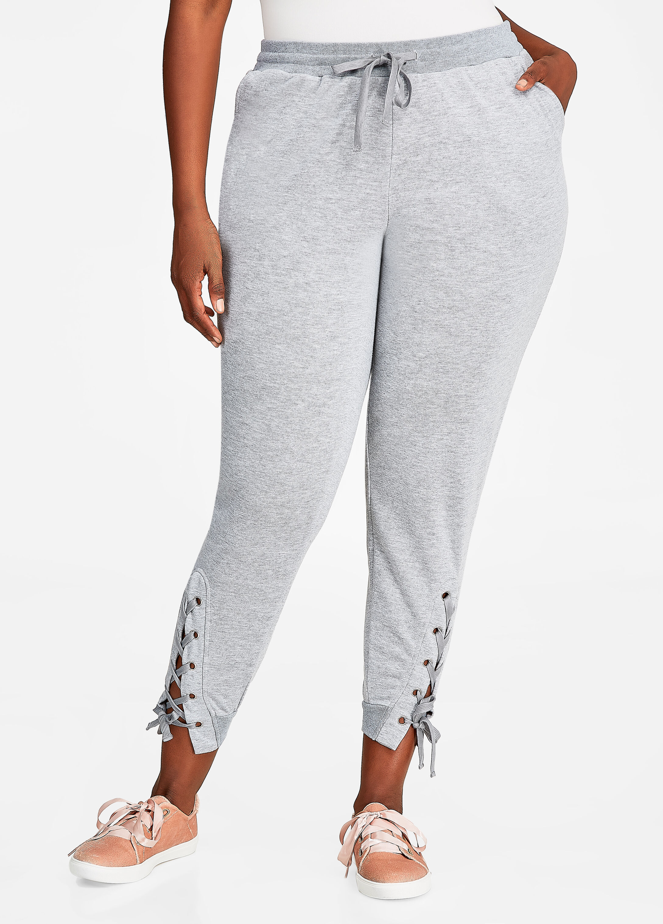 Jogger Pant with Lace-Up Hem